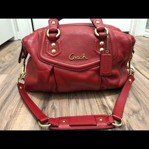 Coach Red Authentic Leather Bag